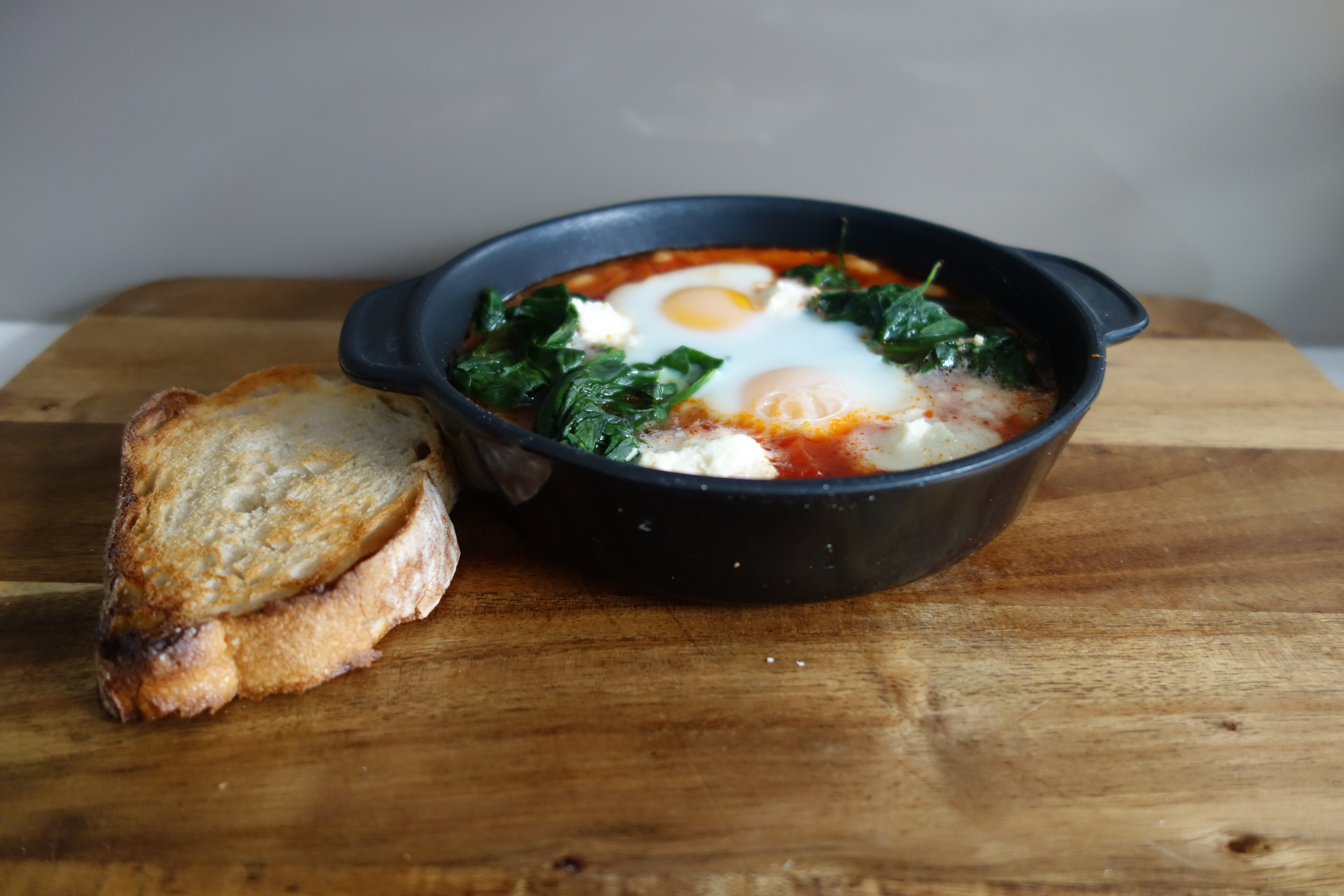 Baked Eggs With Wilted Baby Spinach Recipes — Dishmaps