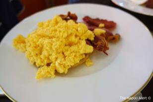 Scrambled eggs with Moyallon Bacon