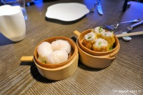 Prawn shumai, and pork and prawn shumai