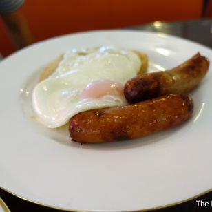 Fried eggs with Blythburgh Pork Sausage